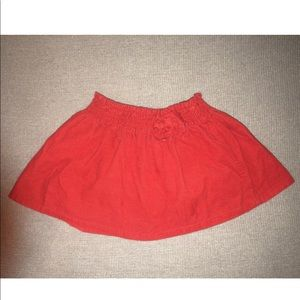Gymboree Red Corduroy Skirt